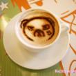 世界一初恋×アニメイトカフェ 横澤クマのラテアート(ココアのラテアート)
